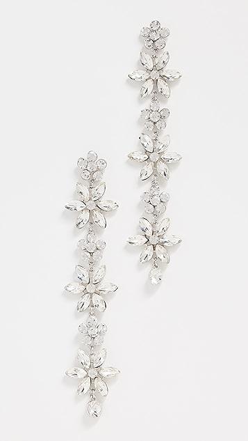 Kenneth Jay Lane Multi Flower Drop Earrings
