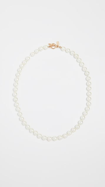 Kenneth Jay Lane Light Cultura Imitation Pearl Necklace