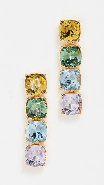 Kenneth Jay Lane Pastel Crystal Stone Drop Earrings