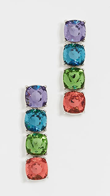 Kenneth Jay Lane Crystal Stone Drop Earrings