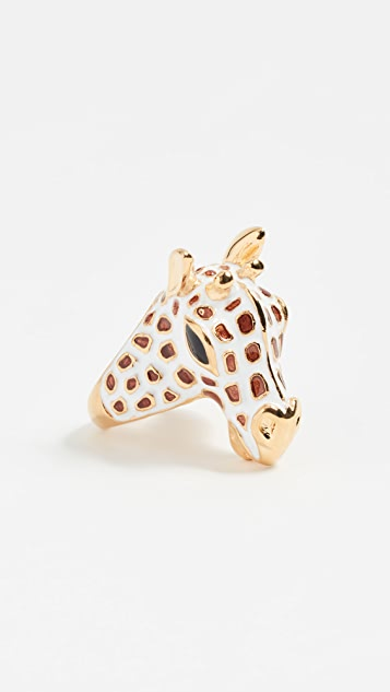 Kenneth Jay Lane Giraffe Head Ring