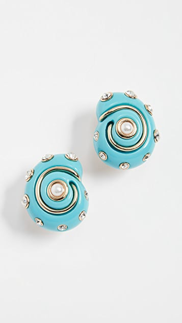 Kenneth Jay Lane Shell Earrings