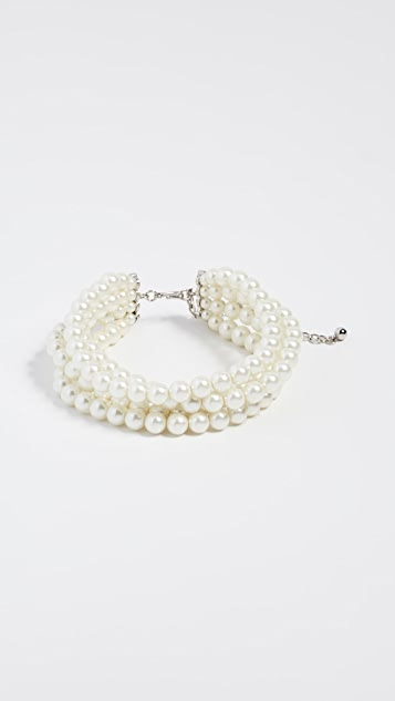 Kenneth Jay Lane Imitation Pearl Strand Necklace