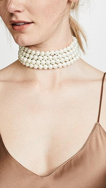 Kenneth Jay Lane Imitation Pearl Strand Necklace
