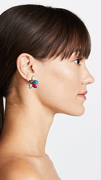 Kenneth Jay Lane Pastel Teardrop Cluster Earrings