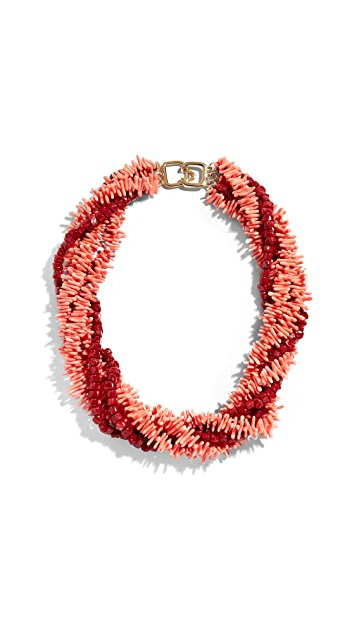 Kenneth Jay Lane Coral Necklace