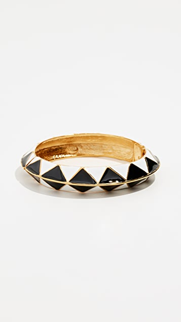 Kenneth Jay Lane Enamel Hinge Bangle Bracelet