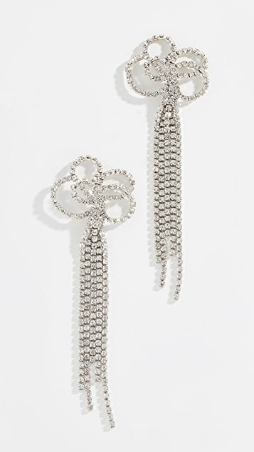 Kenneth Jay Lane Серьги-капли с кристаллами