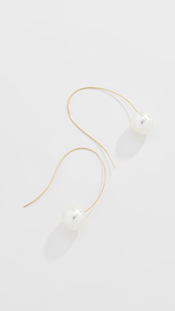 Kenneth Jay Lane Imitation Pearl Drop Earrings