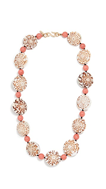 Kenneth Jay Lane Seashell Necklace