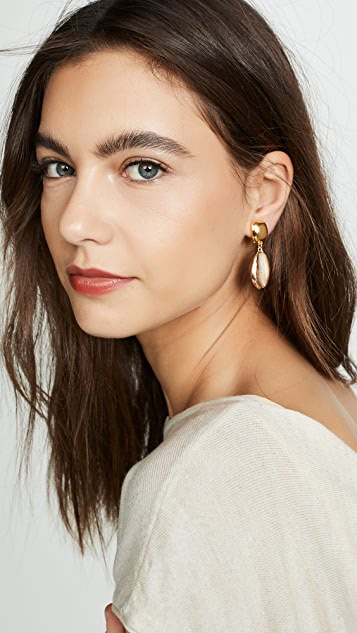 Kenneth Jay Lane Seashell Drop Earrings