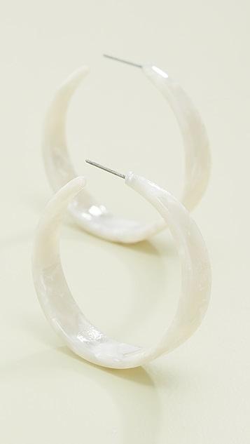 Kenneth Jay Lane Прозрачные серьги-кольца