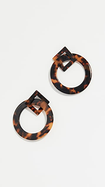Kenneth Jay Lane Mixed Shape Earrings