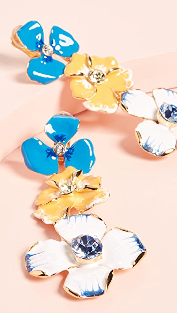 Kenneth Jay Lane Flower Drop Earrings