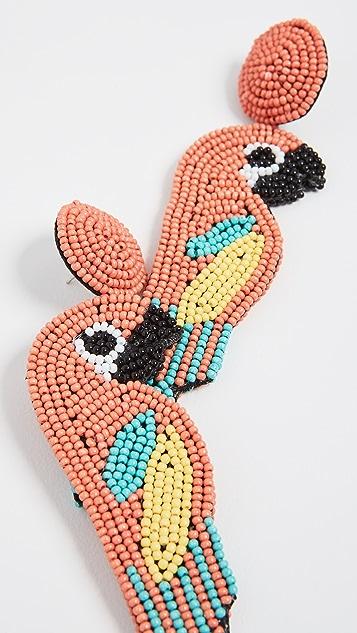 Kenneth Jay Lane Parrot Earrings