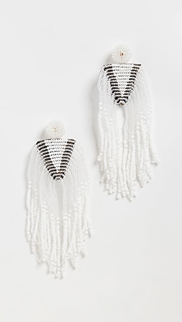 Kenneth Jay Lane Beaded Waterfall Earrings