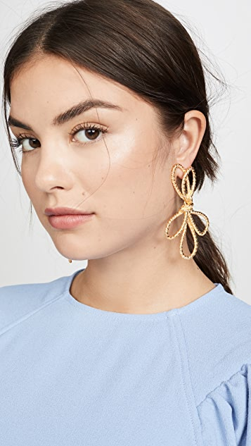 Kenneth Jay Lane Knotted Bow Drop Earrings