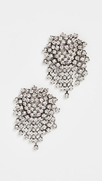 Kenneth Jay Lane Crystal Cluster Earrings