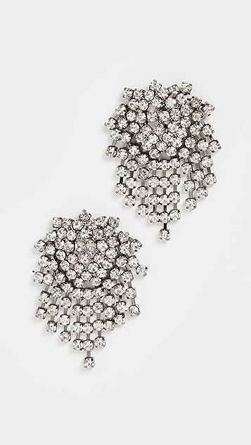 Kenneth Jay Lane Серьги с кристаллами