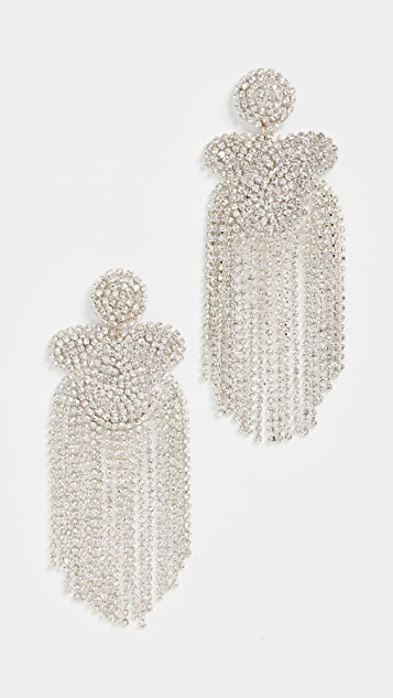 Kenneth Jay Lane Crystal Waterfall Earrings