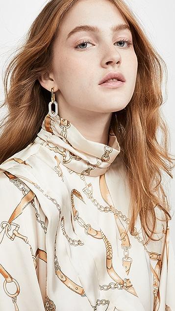 Kenneth Jay Lane Double Link Drop Earrings