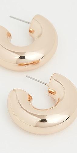 Kenneth Jay Lane - Polished Gold Chubby Hoop Earrings