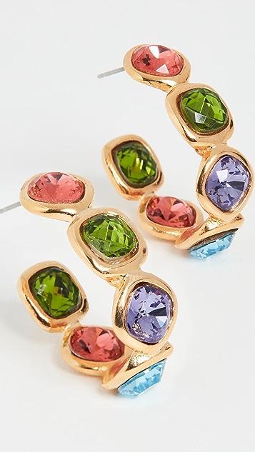 Kenneth Jay Lane Тонкие золотые серьги-кольца