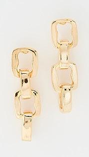 Kenneth Jay Lane Polished Gold 4 Link Earrings