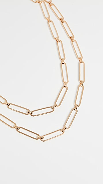 Kenneth Jay Lane Gold Paper Clip Chain