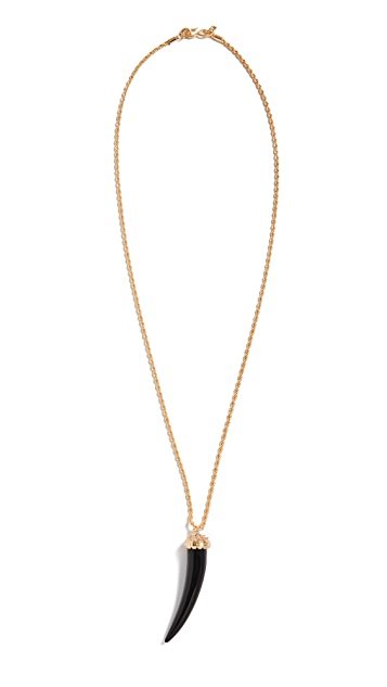 Kenneth Jay Lane Gold Rope Chain Black Long Necklace