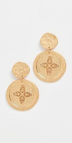 Kenneth Jay Lane - Satin Coin Drop Earrings