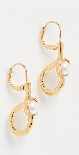 Kenneth Jay Lane - Imitation Pearl Cabochon Center Drop Earrings