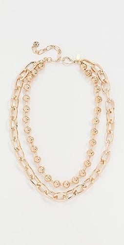 Kenneth Jay Lane - Adjustable 2 Row Polished Necklace