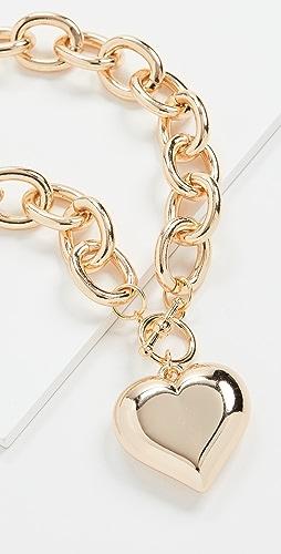 Kenneth Jay Lane - Heart Pendant Toggle Necklace