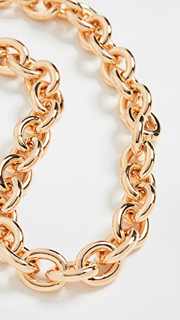 Kenneth Jay Lane Gold Link Chain Necklace