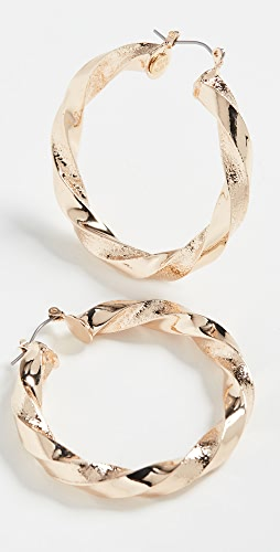 Kenneth Jay Lane - Polished Gold Twisted Earrings