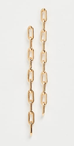 Kenneth Jay Lane - Gold Small Links Chain Earrings