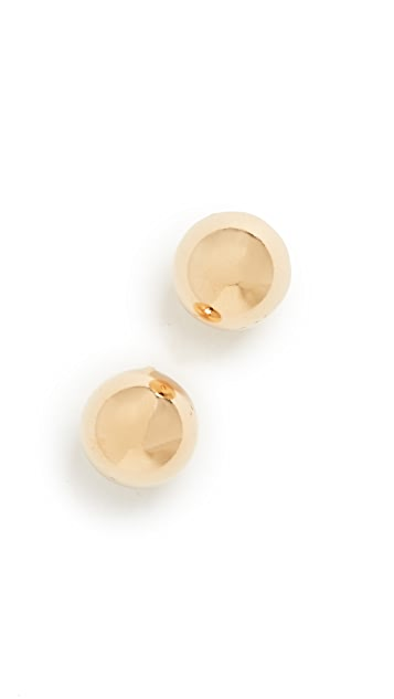 Kenneth Jay Lane Polished Gold Ball Earrings