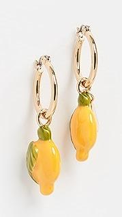Kenneth Jay Lane Gold Post Hoop Earrings