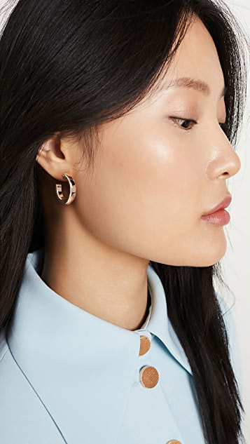 Kenneth Jay Lane Small Polished Open Hoop Earrings