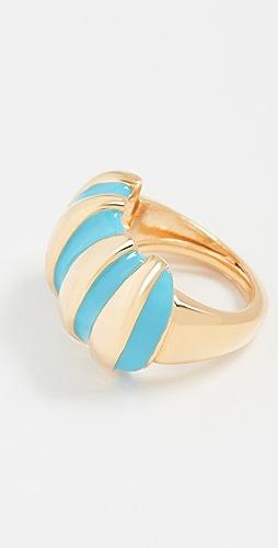 Kenneth Jay Lane - Turquoise Enamel Shrimp Ring