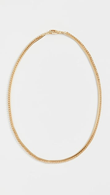 Kenneth Jay Lane 密镶方晶锆石和蛇纹链项链
