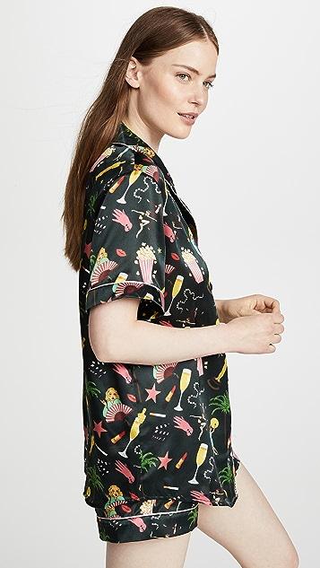 Karen Mabon Hollywood Short Sleeve Pajama Set