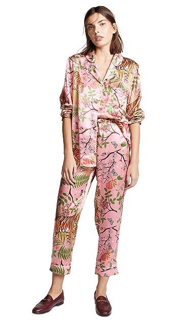 Karen Mabon Tiger Blossom PJ Set