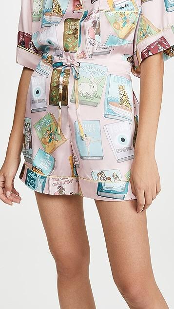 Karen Mabon Book Covers Short Sleeve Pajamas