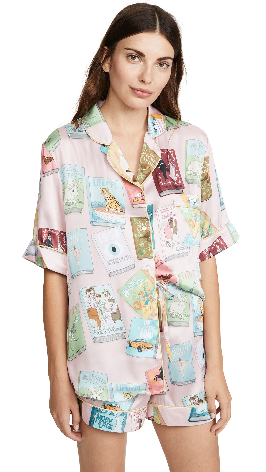 Book Covers Short Sleeve Pajamas