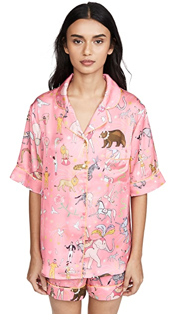 Karen Mabon Circus Shorts Pajama Set