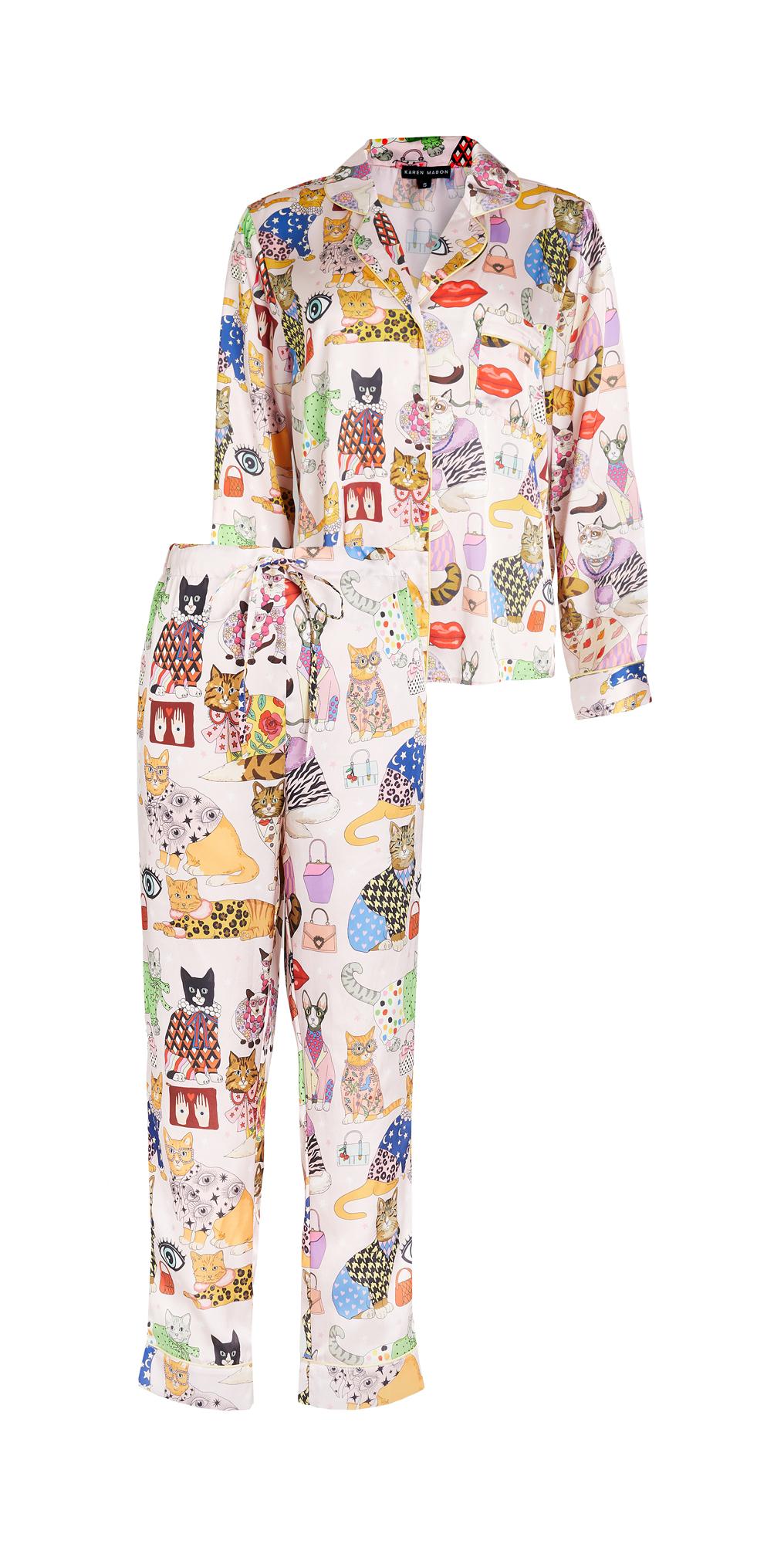 Fashion Cats Pajama Set