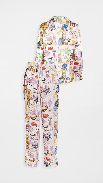 Karen Mabon Fashion Cats 睡衣套装