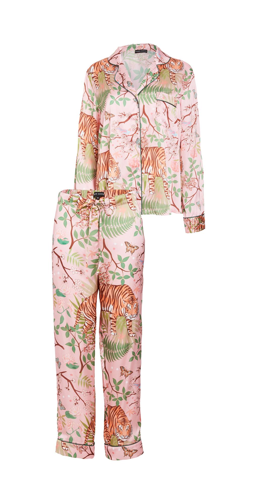 Karen Mabon Tiger Blossom Pajama Set